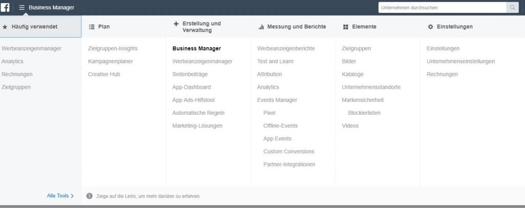 facebook-business-manager-menu